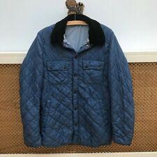 Men's Barbour Liddesdale Jacket Coat Blue XS Corduroy Collar