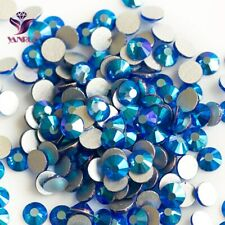 Sapphire AB Flatback Glass Crystal Rhinestones Beads Stones for Clothes Crafts
