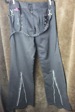 NWT Tripp NYC Pants Women S 11  Black/pink Goth lace rock steampunk corset VTG