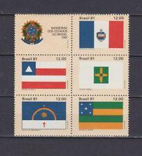 s19049) BRASILE BRAZIL  MNH** Nuovo** 1981 Flags 6v