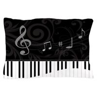 CafePress Whimsical Piano And Musical Notes Pillow Case (1259833962)