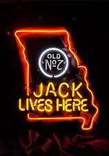 Jack Live Here Jack Daniel Real Neon Sign Bed Room Home Decor Beer Bar Light