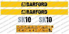 BARFORD SK10 DUMPER DECALS