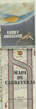 1986 PAPER MAP - MAPA DE CARRETERAS