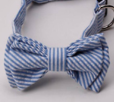 COOL Dog Collars- Blue and White Stylish Bow Tie Dog Collar
