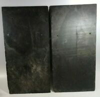"""1900s VINTAGE ROOF SLATE SHINGLES GRAY LARGE 20"""" L X 10"""" W QTY 3 PAINT CRAFT"""