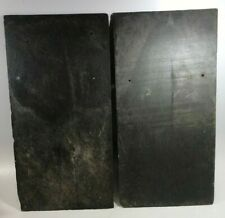 "3 x 1900s Vintage Roof Slate Shingles Gray Large 20"" L X 10"" W Paint Craft"