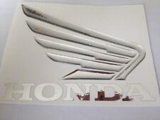 HONDA  Chrom Motorrad 3D Tank Emblem Aufkleber Custom Honda Aufkleber CRB 2 stk