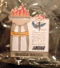 Wagga Wagga Sydney 2000 Olympic Torch Relay AMP Sponsor Cauldron Pin