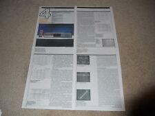 Kyocera Da-710cx Cd Review, 4 pg, 1987, Rare Info! Specs, Full Test