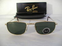 60ecf3d9ed New Vintage B L Ray Ban 1940 S Retro Rectangle Gold W1756 Aviator Sunglasses  USA