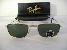 New Vintage B&L Ray Ban 1940'S Retro Rectangle Gold W1756 Aviator Sunglasses USA