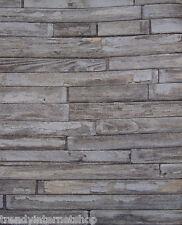 Tapete altes Holz verwittert Bretter Holzoptik beige braun grau Vintage 05545-30