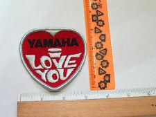 Yamaha  Patch Yamaha  Motorcycle Snowmobile Patch I Love You  (#1535) *