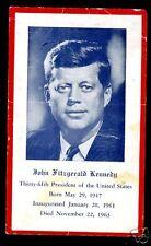 1963 J.F. KENNEDY ST ANTHONY'S GUILD MASS CARD