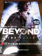 BEYOND TWO SOULS JAPAN BOOKLET 2013 PS3 SONY GAME QUANTIC DREAM WILLIAM DEFOE