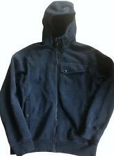 LULULEMON Mens Domain Hoodie Jacket Coat Black size L Thick Cotton Fleece