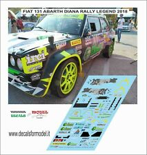 DECALS FIAT 131 ABARTH DIANA RALLY LEGEND 2018