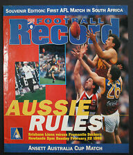 1998 Ansett Cup South Africa Brisbane Lions vs Fremantle  Football Record RARE