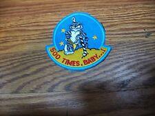 PATCH USN F-14 TOMCAT 500 TIMES BABY TARPS  PARCHE