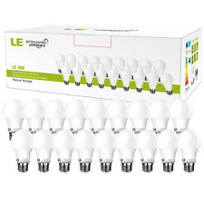 A19 LED Light Bulbs 60W Equivalent  E26 2700K Warm White SlimStyle 810lm 18Pack