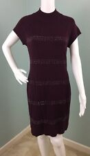 NWT Womens Apt. 9 Mock Neck Cap Sleeve Studded Knit Sheath Dress Sz L Large