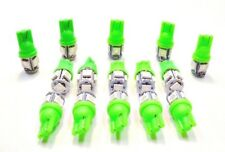 15 BRIGHT Green 5 LEDs 12V Side Marker License Plate Clock Dash Lights Bulbs GM