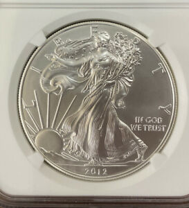 2012 (W) Silver Eagle Dollar MS70 NGC Struck @West Point Early Release 🇺🇸Label