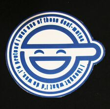 GHOST IN THE SHELL LAUGHING MAN LOGO 3D PVC BLUE GLOW GITD ARMY VELCRO® PATCH
