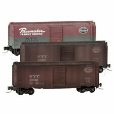 Micro-Trains Line 50044490 NYC New York Central Weathered Box Car 3-Pack MIB/New