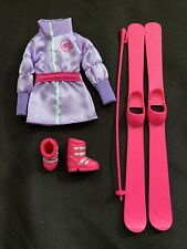 Coat Barbie Doll Set, Shoes & Accessories Lot Fashion Outfit Winter Ski Boots