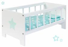 Sun Puppenbett Sternchen Holz Holzbett Bett Puppe Gitterbett Puppenmöbel Mint