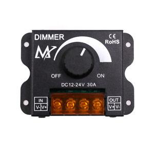 12V 24V PWM Rotary Wall Dimmer Switch LED Strip Light Lamp Controller Adjuster