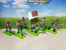 Britains deetail ACW Confederate infantry set of 6 (lot 3257)