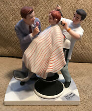 "1979 Norman Rockwell Figurine ""The First Haircut"" American Family Collection"