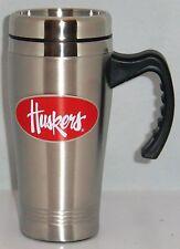 Nebraska Cornhuskers 14 oz Stainless Steel Travel Mug with Handle NCAA Licensed