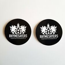 """Lot of 2 RHYMESAYERS 4"""" Stickers ATMOSPHERE Brother Ali MF DOOM Eyedea Hip Hop"""