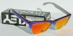 OAKLEY Frogskins Sunglasses Pink Blue Fade Silver/Prizm Ruby OO9013 NEW