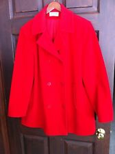 WOMENS J G HOOK ANCHOR BUTTON WOOL PEA COAT LARGE