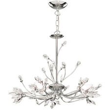 Searchlight 1885-5CC Hibiscus 5 Light Ceiling Fitting Chrome & Crystal