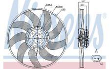 NISSENS Ventilador, refrigeración del motor AUDI A6 A4 A7 Q5 A5 85728