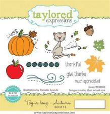 TAYLORED EXPRESSIONS TAG-A-LONG - AUTUMN RUBBER STAMP  (SET OF 11) TEMS83