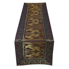 Elephant Print Indian Handmade Wedding Occasion Table Cloth Runner Home Decor
