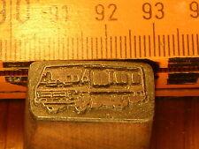 KLEINES WOHNMOBIL   schöner Oldtimer Stempel / Siegel aus Metall