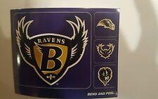 "Baltimore Ravens vintage TEAM ISSUED STICKER STICKERS 4"" Big & 1"" Smaller size"