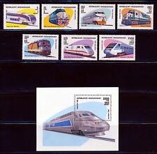 MADAGASCAR 1993 TRAIN SET +  SOUVENIR SHEET SCOTT 1200-1207