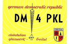 Z79 Carte QSL Radio Amateur Opérateur DM4PKL en Allemagne DDR a GLASWERK FREITAL
