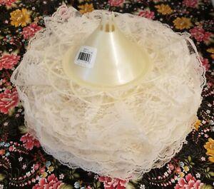 "Lot of 11 VTG Darice Wedding Bridal Flower Bouquet Large 11"" Cream Lace Collar"