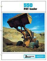 INTERNATIONAL HOUGH DRESSER 550  PAY LOADER SALES  BROCHURE 1984
