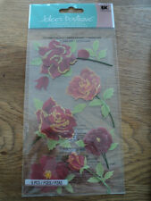 EK SUCCESS JOLEE'S BOUTIQUE Coloré Roses Dimensional Stickers Entièrement neuf sous emballage